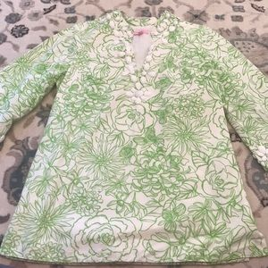 Green and White Beaded tunic.